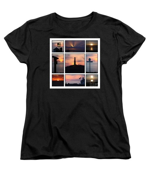 Women's T-Shirt (Standard Cut) featuring the photograph Cornish Sunsets by Terri Waters