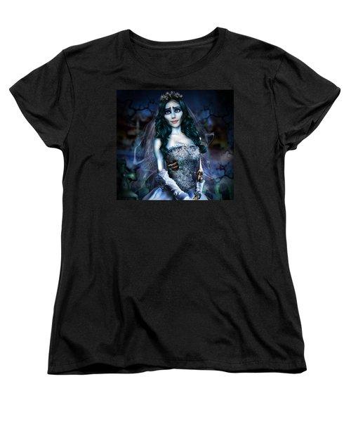 Corpse Bride Women's T-Shirt (Standard Cut) by Alessandro Della Pietra