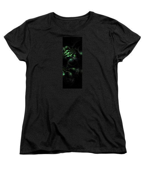 Cosmic Alien Eyes Original 2 Women's T-Shirt (Standard Cut) by Shawn Dall