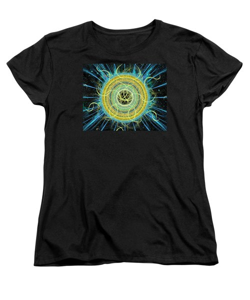 Cosmic Circle Fusion Women's T-Shirt (Standard Cut) by Shawn Dall