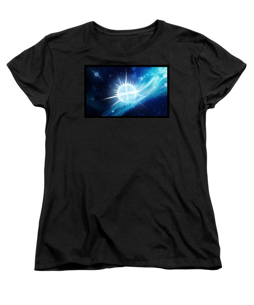 Women's T-Shirt (Standard Cut) featuring the digital art Cosmic Icestream by Shawn Dall