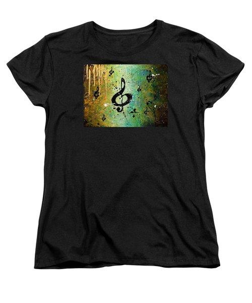 Cosmic Jam Women's T-Shirt (Standard Cut) by Carmen Guedez
