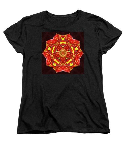 Cosmic Masculine Firestar Women's T-Shirt (Standard Cut) by Derek Gedney