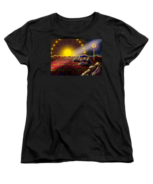 Cosmic Signpost Women's T-Shirt (Standard Cut) by Melinda Fawver