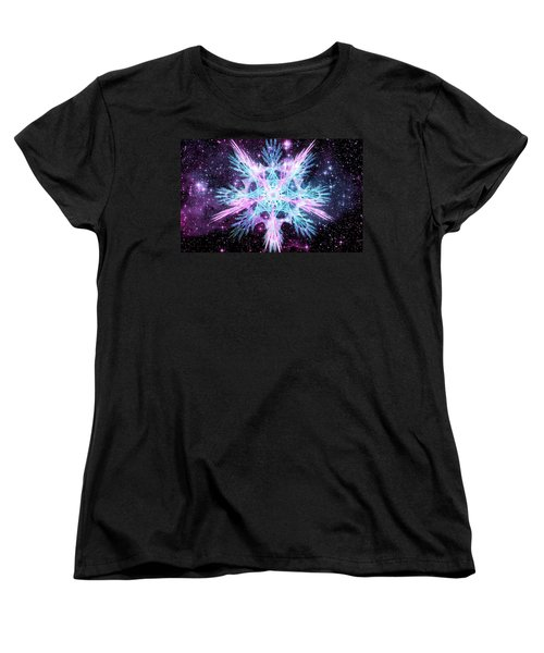 Cosmic Starflower Women's T-Shirt (Standard Cut) by Shawn Dall