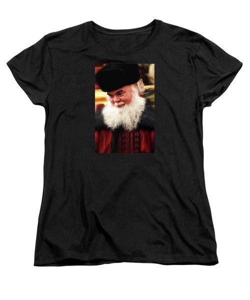Women's T-Shirt (Standard Cut) featuring the photograph Cossack Santa by Nadalyn Larsen