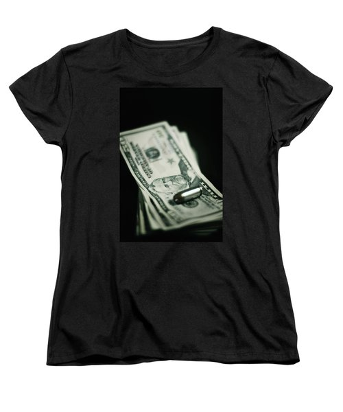 Cost Of One Bullet Women's T-Shirt (Standard Cut) by Trish Mistric
