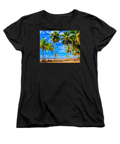 Costa Rican Paradise Women's T-Shirt (Standard Cut) by Michael Pickett