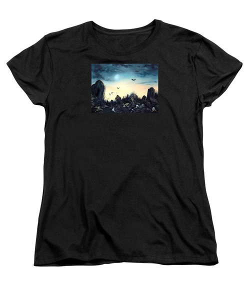 Women's T-Shirt (Standard Cut) featuring the painting Count The Eyes by Jean Walker