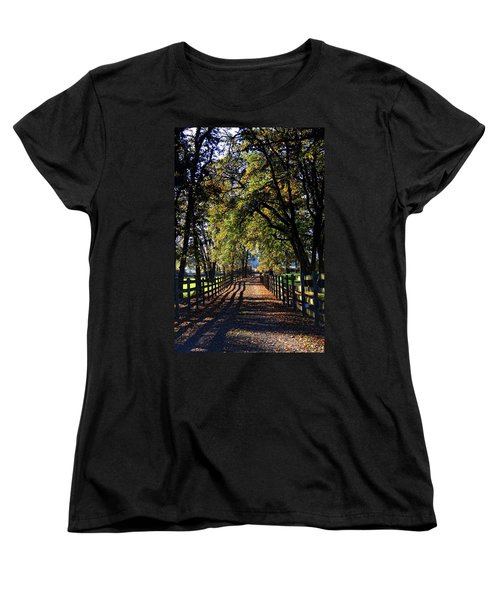 Women's T-Shirt (Standard Cut) featuring the photograph Country Drive by Aaron Berg