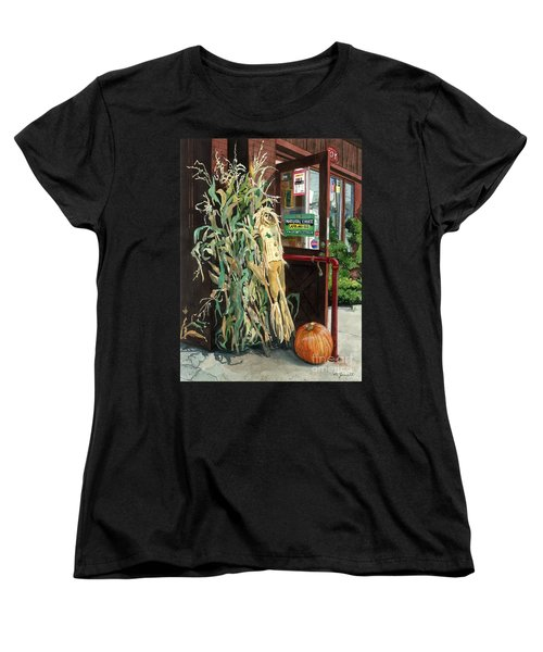Women's T-Shirt (Standard Cut) featuring the painting Country Store by Barbara Jewell
