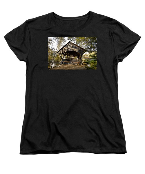 Covered Bridge Women's T-Shirt (Standard Cut) by Bill Howard
