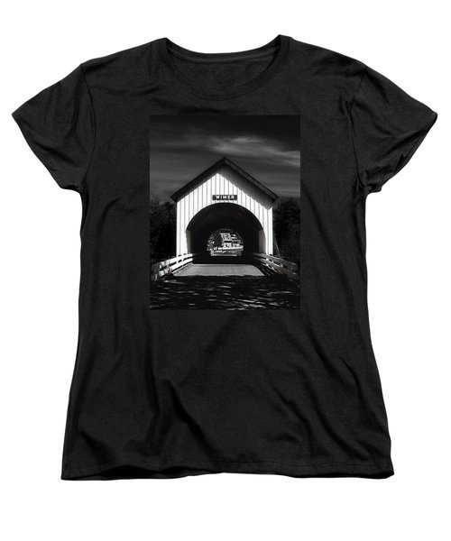 Covered Bridge Women's T-Shirt (Standard Cut) by Melanie Lankford Photography