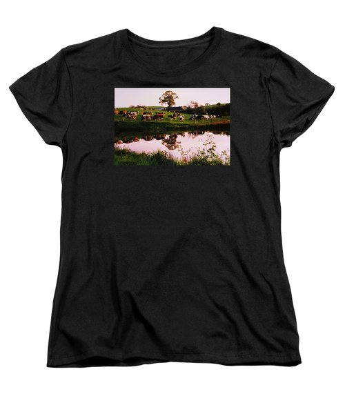 Cows In The Canal Women's T-Shirt (Standard Cut) by Martin Howard