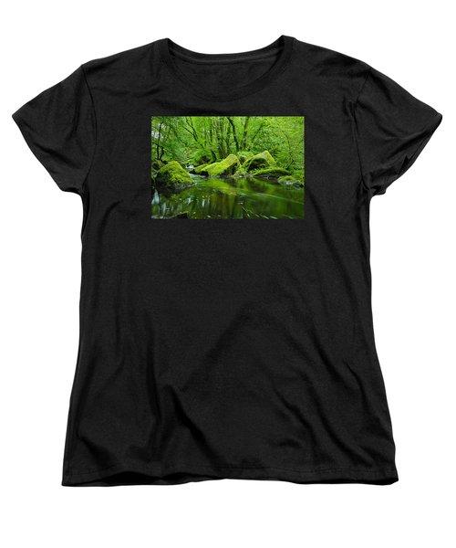 Creek In The Woods Women's T-Shirt (Standard Cut)