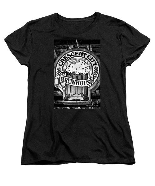 Crescent City Brewhouse - Bw Women's T-Shirt (Standard Cut) by Kathleen K Parker