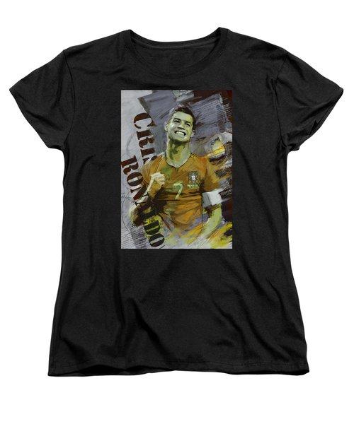 Cristiano Ronaldo Women's T-Shirt (Standard Cut) by Corporate Art Task Force