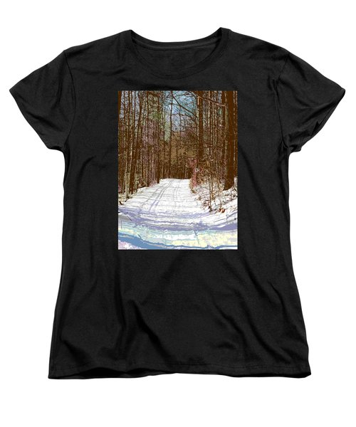 Women's T-Shirt (Standard Cut) featuring the photograph Cross Country Trail by Nina Silver