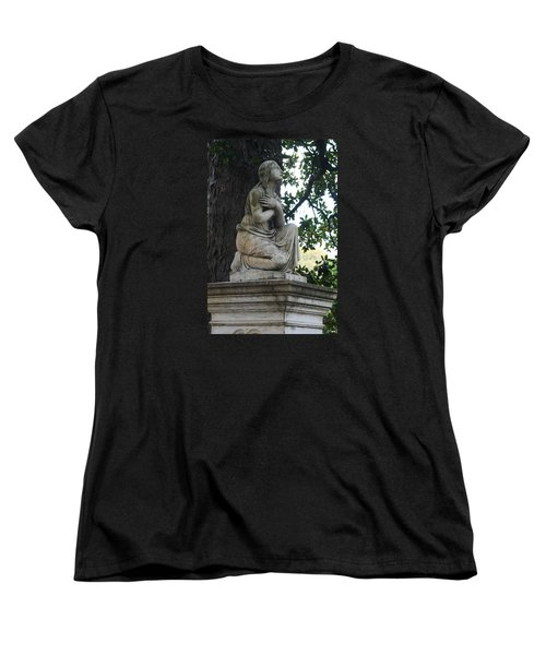 Women's T-Shirt (Standard Cut) featuring the photograph I Cross My Heart Angel by Lesa Fine