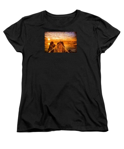 Cross That Bridge Women's T-Shirt (Standard Cut) by Catherine Lott