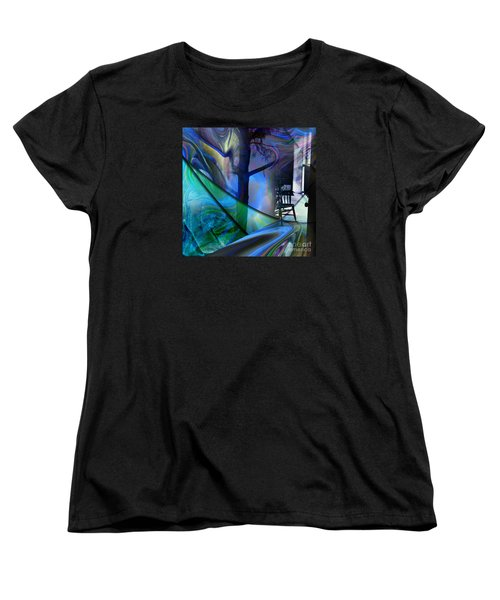Women's T-Shirt (Standard Cut) featuring the painting Crossing Roads by Allison Ashton