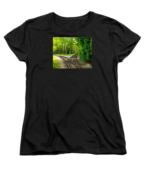 Women's T-Shirt (Standard Cut) featuring the photograph Crossing The Lines by Joy Hardee