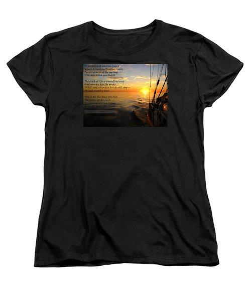 Cruising Poem Women's T-Shirt (Standard Cut) by Anne Mott