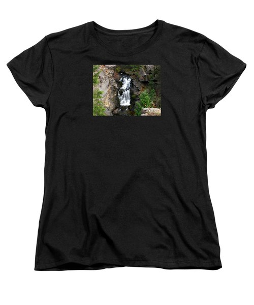 Crystal Falls Women's T-Shirt (Standard Cut) by Greg Patzer