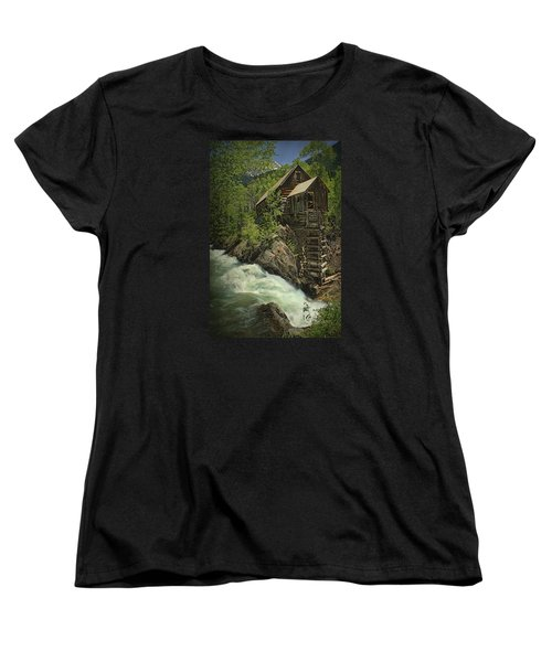 Women's T-Shirt (Standard Cut) featuring the photograph Crystal Mill by Priscilla Burgers