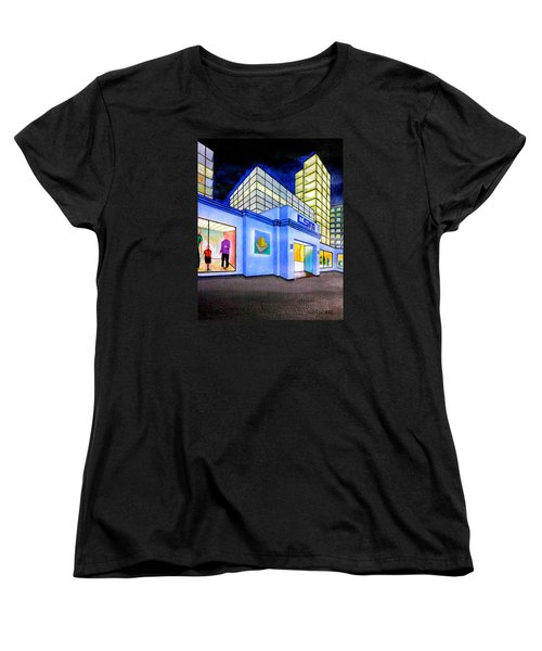 Women's T-Shirt (Standard Cut) featuring the painting Csm Mall by Cyril Maza