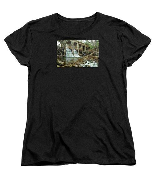 Cumberland Waterfall Women's T-Shirt (Standard Cut) by Debbie Green