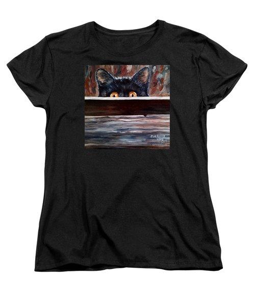 Curiosity Women's T-Shirt (Standard Cut) by Julie Brugh Riffey