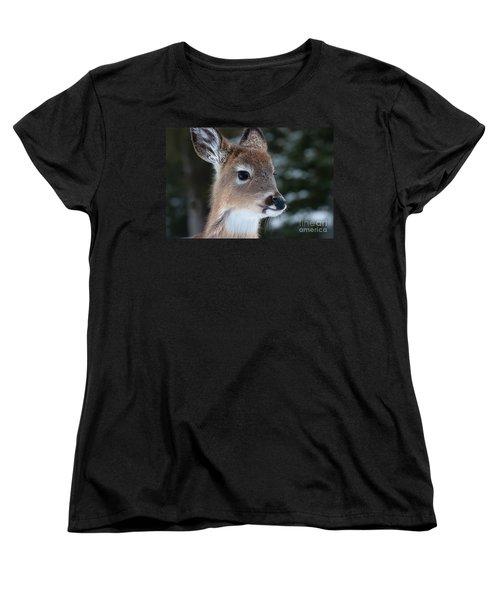 Women's T-Shirt (Standard Cut) featuring the photograph Curious Fawn by Bianca Nadeau