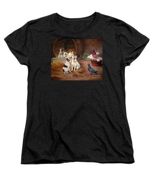 Curious Friends Women's T-Shirt (Standard Cut) by Hazel Holland