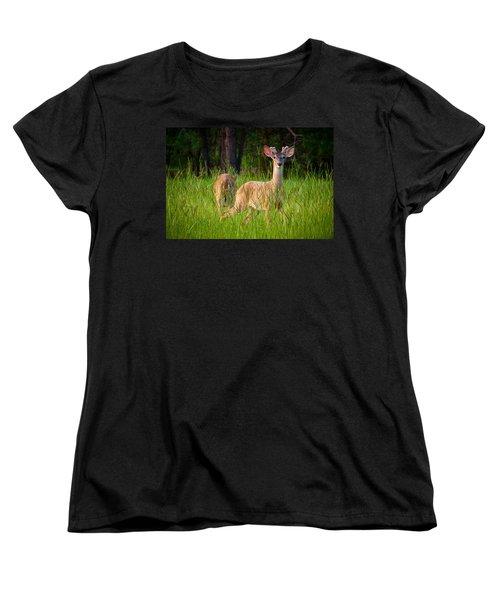Curious Women's T-Shirt (Standard Cut) by Linda Unger
