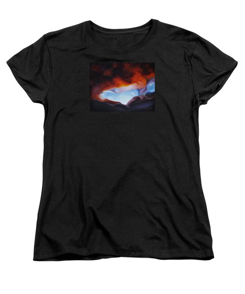 Women's T-Shirt (Standard Cut) featuring the painting Curves On The Horizon by Craig Burgwardt