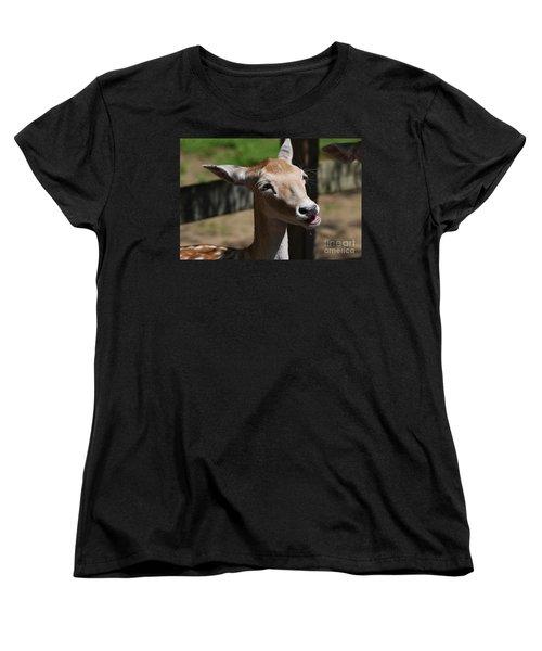 Cute Deer Women's T-Shirt (Standard Cut) by DejaVu Designs