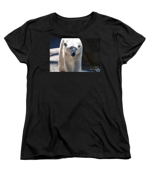 Cute Polar Bear  Women's T-Shirt (Standard Cut) by DejaVu Designs
