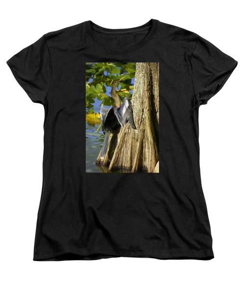 Cypress Bird Women's T-Shirt (Standard Cut) by Laurie Perry