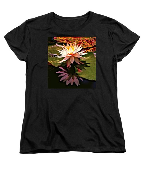 Women's T-Shirt (Standard Cut) featuring the photograph Cypress Garden Water Lily by Bill Barber