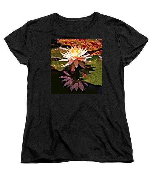 Cypress Garden Water Lily Women's T-Shirt (Standard Cut) by Bill Barber