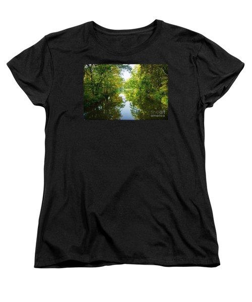 D And R Canal  Women's T-Shirt (Standard Cut) by Debra Fedchin
