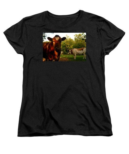 Dads Cows Women's T-Shirt (Standard Cut) by Lon Casler Bixby