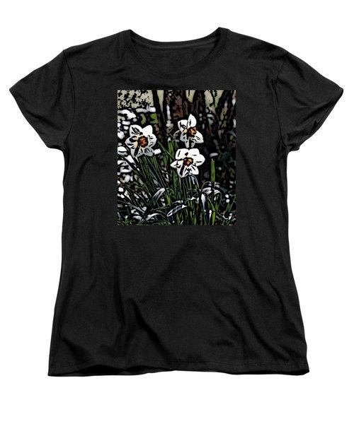 Women's T-Shirt (Standard Cut) featuring the digital art Daffodil by David Lane