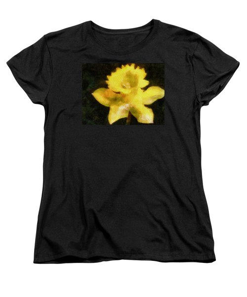 Women's T-Shirt (Standard Cut) featuring the painting Daffodil by Greg Collins