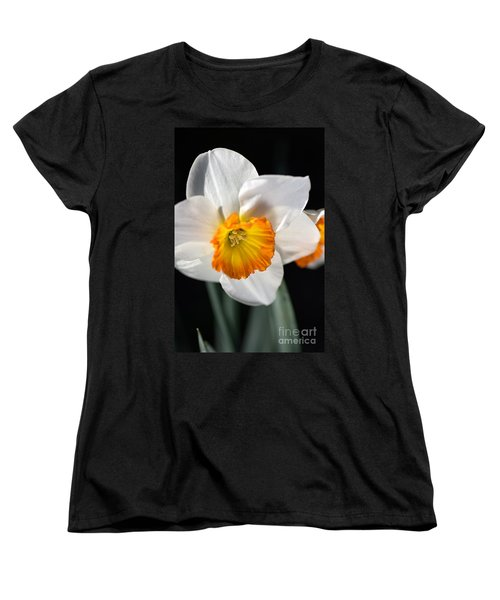 Daffodil In White Women's T-Shirt (Standard Cut) by Joy Watson