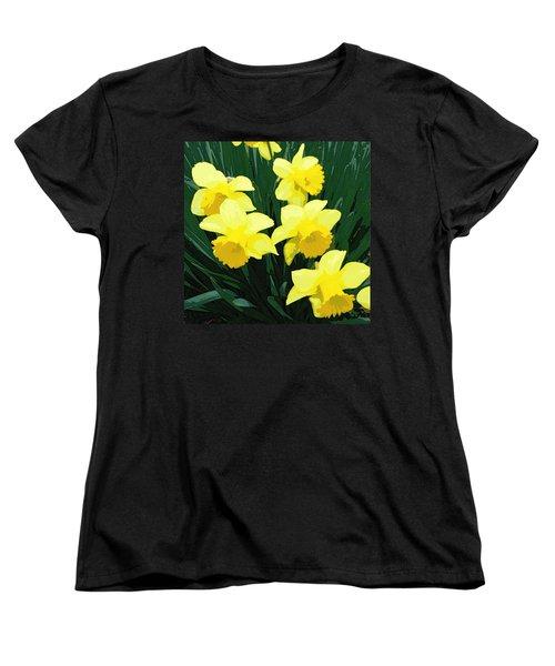 Daffodil Song Women's T-Shirt (Standard Cut) by Pamela Hyde Wilson