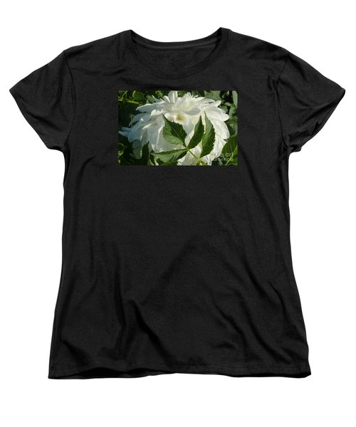 Women's T-Shirt (Standard Cut) featuring the photograph Dahlia Delicate Dancer by Susan Garren