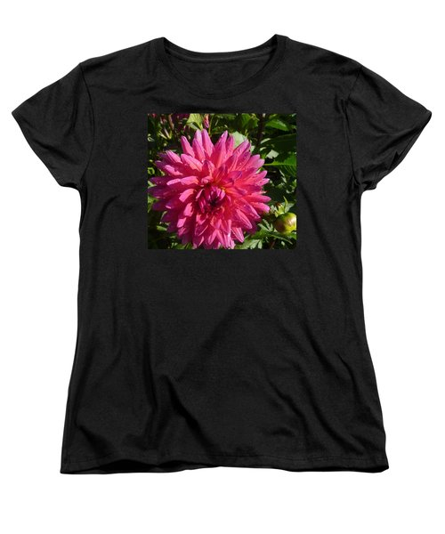 Women's T-Shirt (Standard Cut) featuring the photograph Dahlia Pink by Susan Garren
