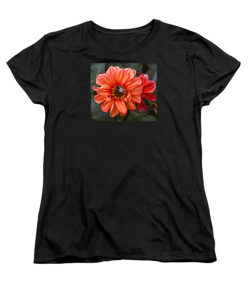 Dahlia With Bee Women's T-Shirt (Standard Cut) by Venetia Featherstone-Witty